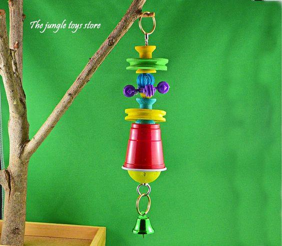Jouets d'oiseaux de 10''  25 cm  à suspendre par TheJungleToysStore