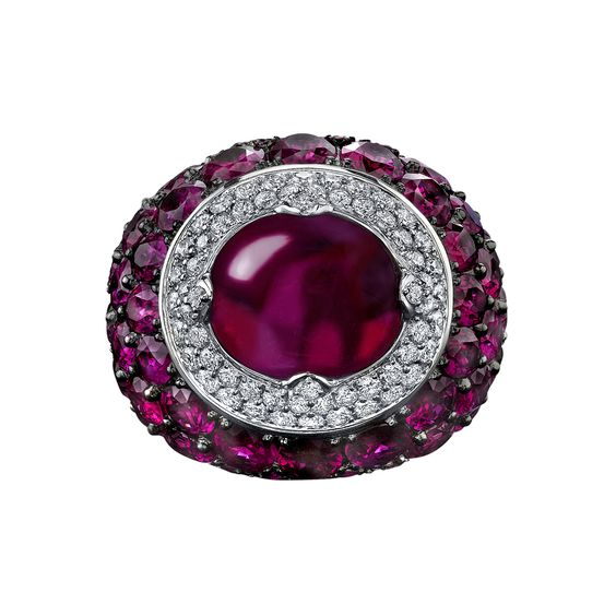 Robert Procop Burmese Ruby & Diamond Ring