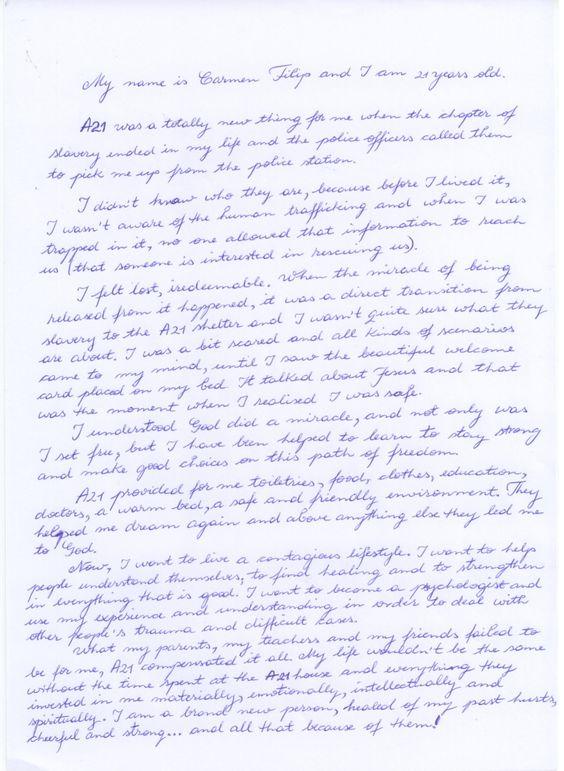 A21 campaign write a letter