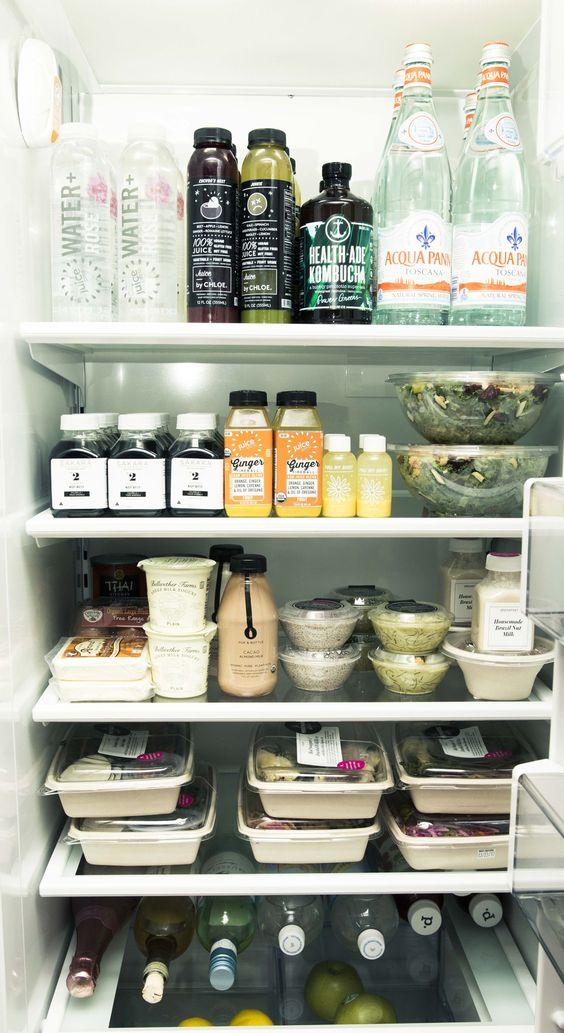 Everything A Co Founder Of A Vegan Restaurant Has In Her Kitchen Healthy Fridge Fridge Organization Refrigerator Organization