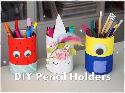 3 Diy Easy Pencil Holder Ideas For Kids Unicorn Minnion