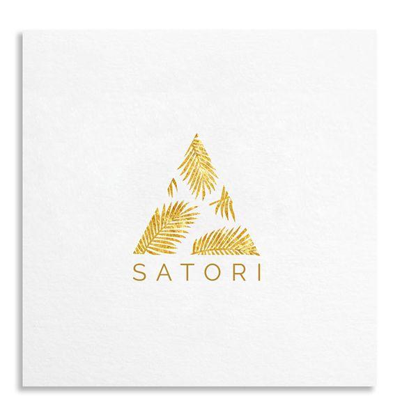 Golden Palm Illustration Logo Template http://ift.tt/1gTB6yt #design: