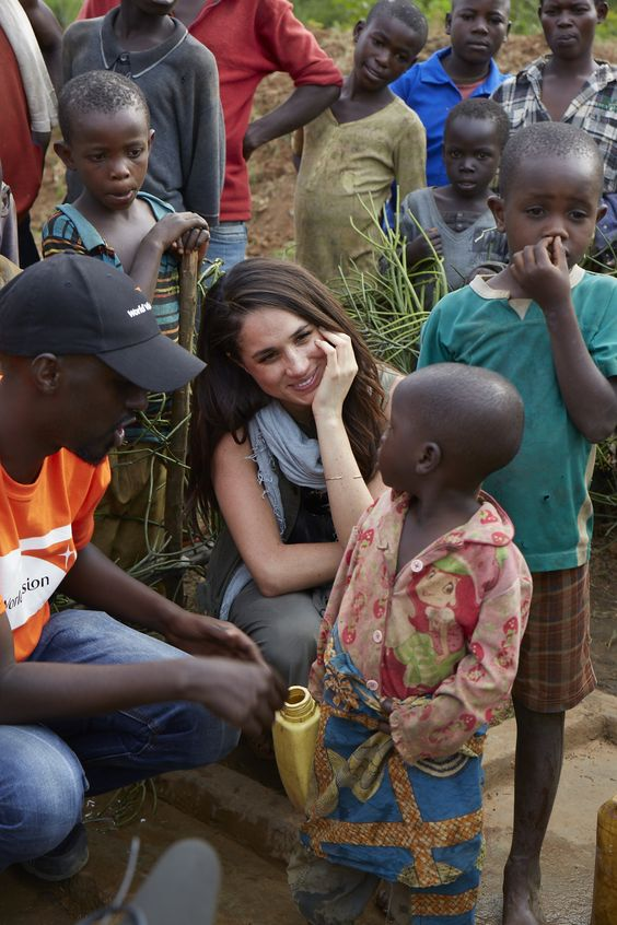 Meghan Markle supporting World Vision Water in Rwanda