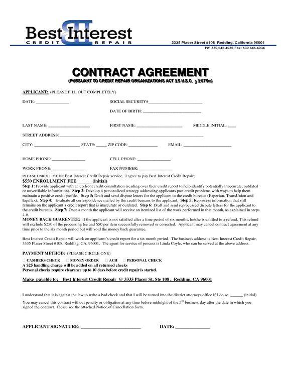 Credit Repair Contract Template Credit Repair SECRETS Exposed Here - forbearance agreement template
