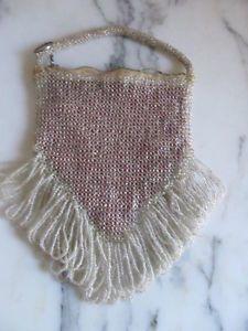 Vintage Beaded Purses | ... Antique vintage small beaded purse with beaded fringe/ beaded rope
