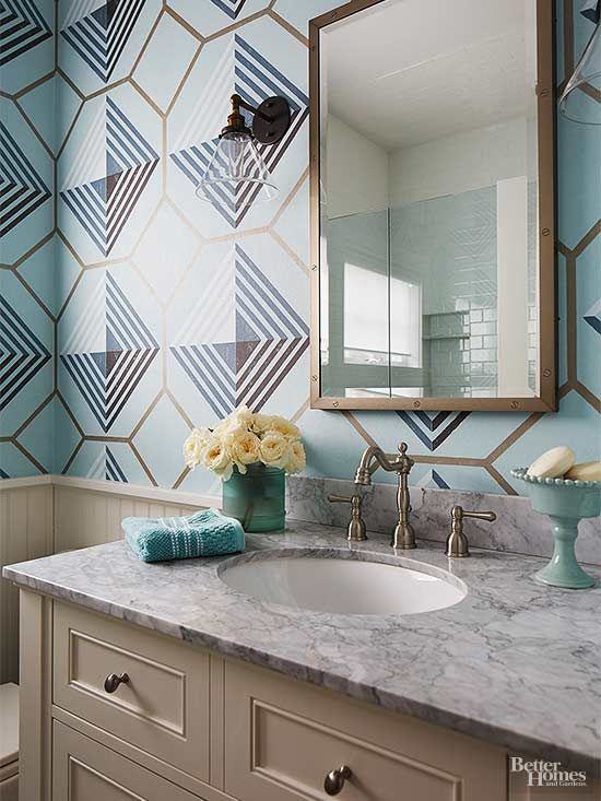 Wallpaper has become a project that's easy to tackle, even for a beginning DIYer -- which makes it a great project for a home renovation on a budget. Look for temporary options so you can add pattern or color and take it off if you change your decor style./