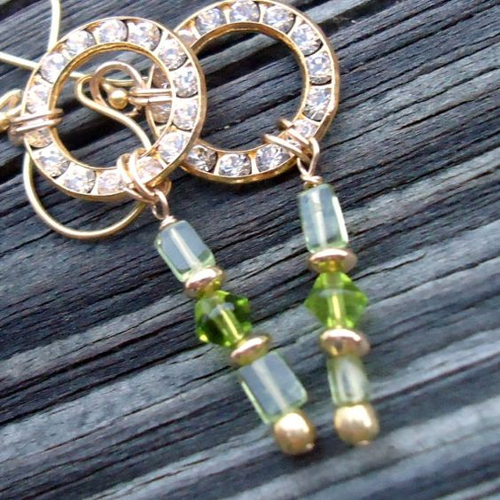 Peridot earrings... thinking mother's day!