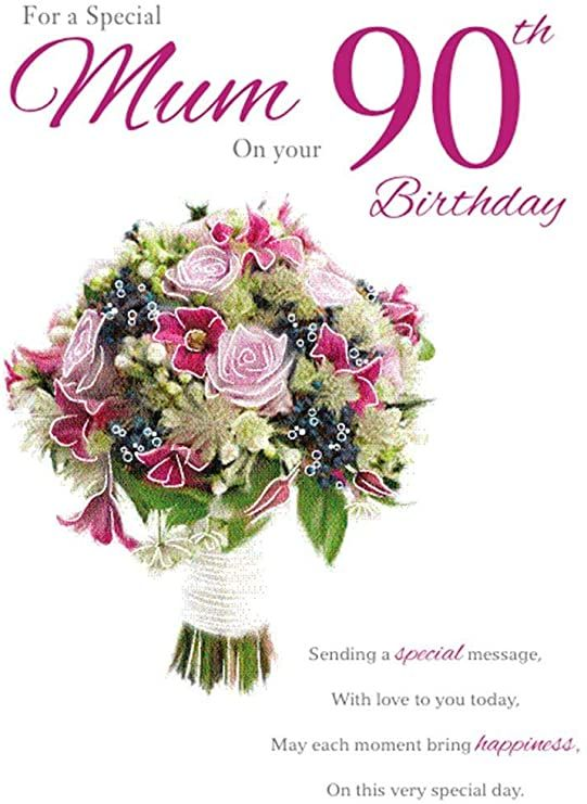 Hackerdom Mum 90th Birthday Birthday Card 90th Birthday Cards 90th Birthday Birthday Cards
