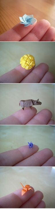 The teeniet, tiniest origami ever - WOW.