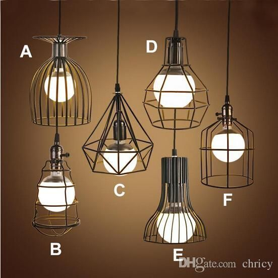Super Bright Vintage Led Pendant Lights Industrial Lighting Cafe Bar Bedroom Restaurant Living Room Birdcage Pe Lampade Lampade Da Comodino Lampade Industriali