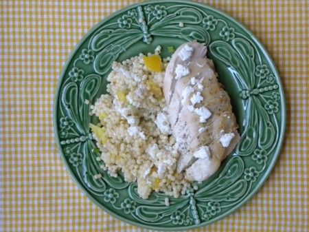 Israeli couscous and chicken