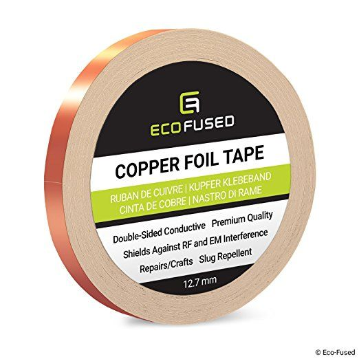 Premium Adhesive Copper Foil Tape Double Sided Conductive 0 5 Inch 12 7 Mm Emi And Rf Shielding Paper Copper Foil Tape Paper Circuits Electrical Tape