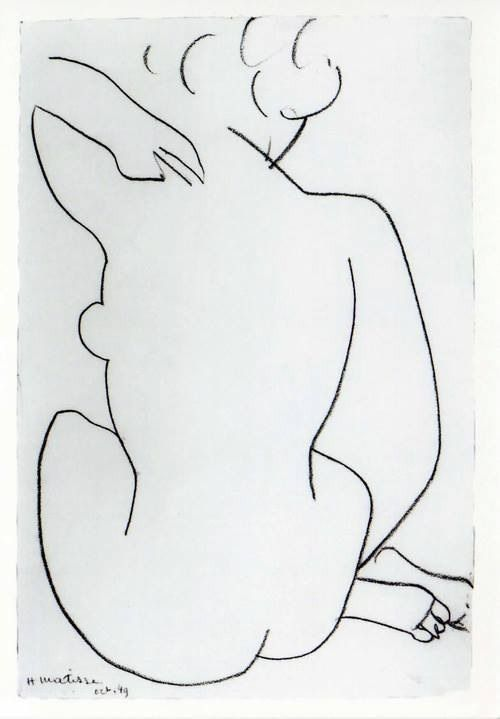 Tekening, Henri Matisse  Zie voor Matisse: http://www.artsalonholland.nl/grote-meesters-kunstgeschiedenis/henri-matisse: