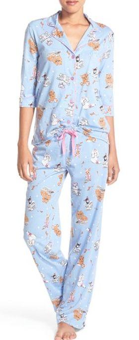 periwinkle doggy print pajamas