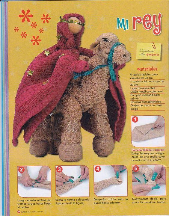 Como hacer figuras con toallas