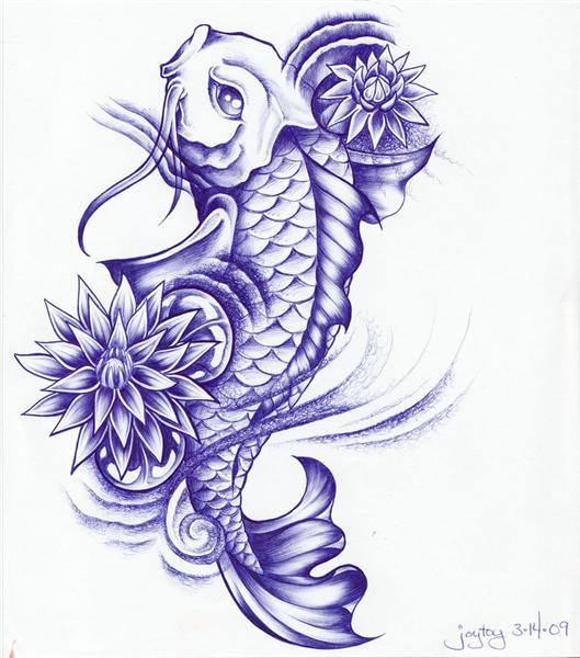 Diseos de Tatuajes Peces Koi  Tatuaje pez koi Pez koi y Koi