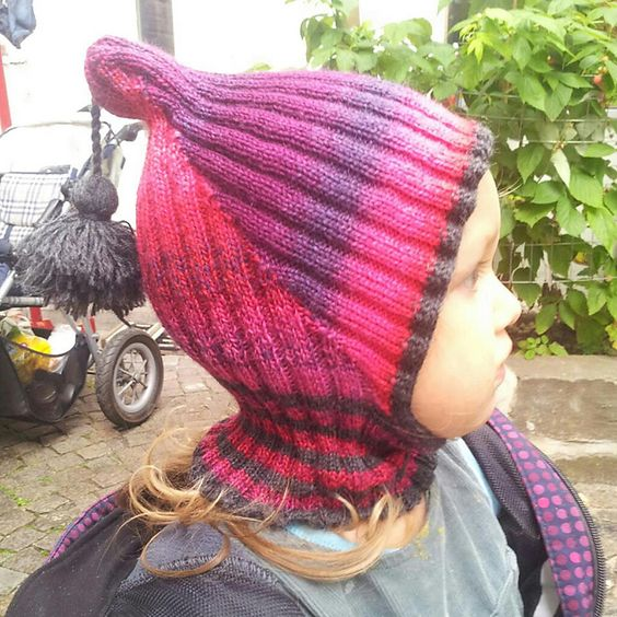 Knitting Pattern For Pixie Hat : Ravelry: Balaclava Pixie Hat (Machine knitted) pattern by Kathrin Scholz Ma...