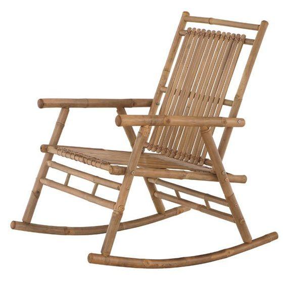 Rocking chair - fauteuil à bascule en bambou huilé chez Fly. Rocking Chair - fauteuil à bascule pas cher chez Fly