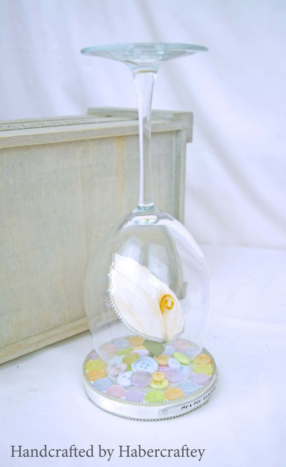 Zip Calla lily Candle holder with personalised by Habercraftey