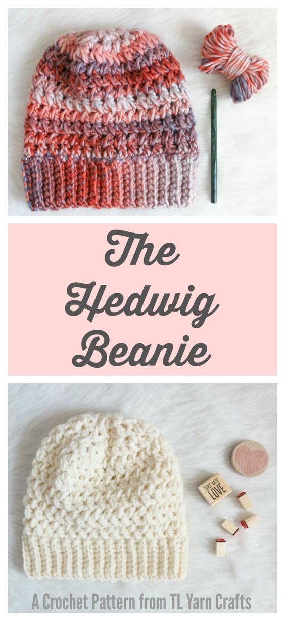 Textured chunky crochet hat - easy pattern for fall and winter gifting!