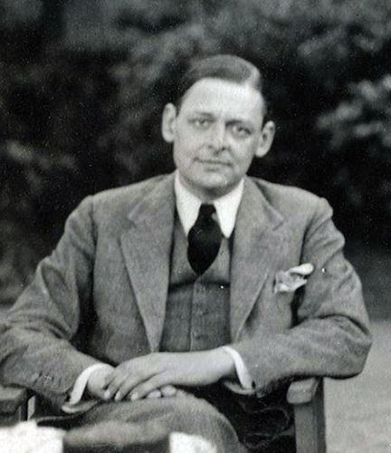 T.S. Eliot, photographed by Lady Ottoline Morrell: