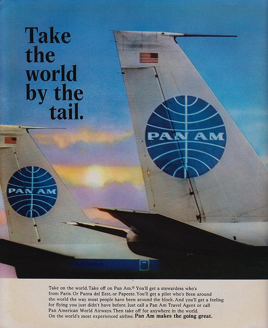 Love the 707!  Pan Am - Take The World By The Tail by The Pie Shops Collection, via Flickr