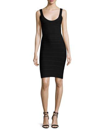 Basic+Bandage+Dress,+Black+by+Herve+Leger+at+Neiman+Marcus.