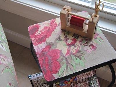 Modge Podge Fabric Table Top