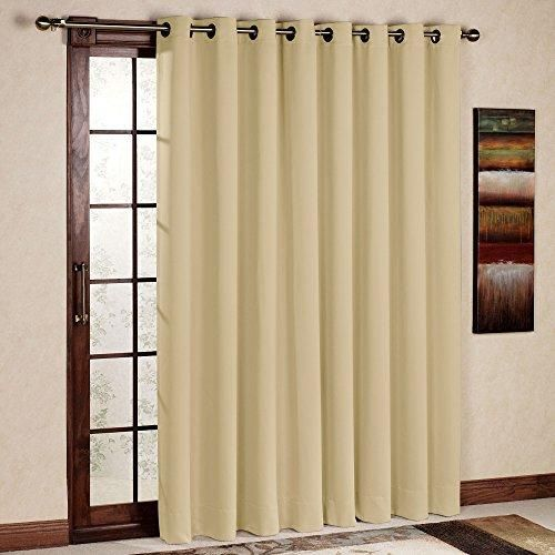 Linen Look Textured Thermal Blackout Single Door Curtain Silver Grey 51 X 84 Energy Saving Curtains Door Curtains Single Doors