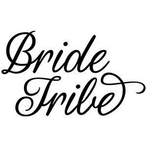 Silhouette Design Store: bride tribe