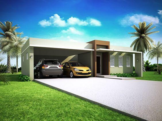 Fachadas de casas modernas terreras buscar con google - Casas con chimeneas modernas ...