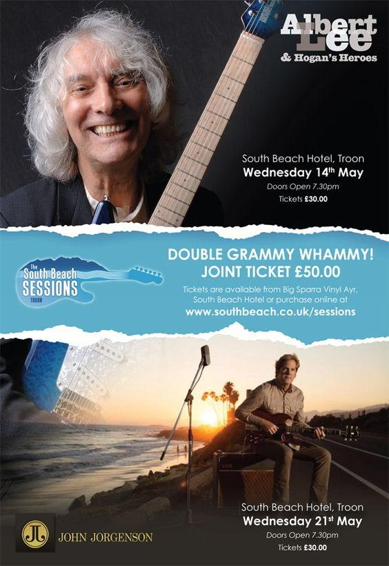 Albert Lee and John Jorgenson Joint Ticket May 2014 - Great two gigs on two consecutive Wednesday's in May at The South Beach Hotel in Troon.