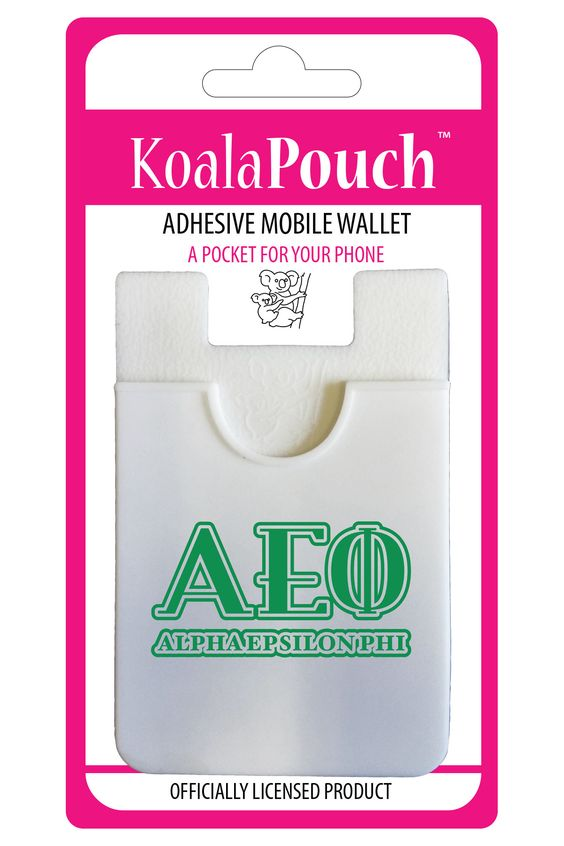 Show your sorority pride with the Koala Pouch, adhesive cell phone wallet, the perfect solution for the multitasker on the go! Keep all of your valuables safe and secure in one place while reducing th