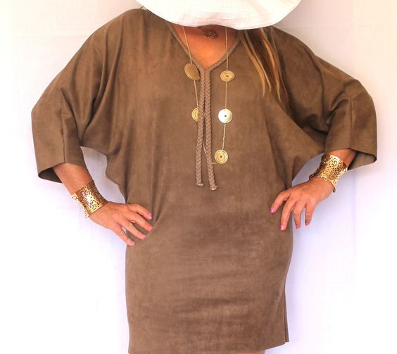 Tunique robe  daim sur www.soobysophie.com