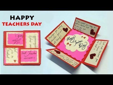 Diy Teacher S Day Card Happy Teachers Day Teachers Day Card