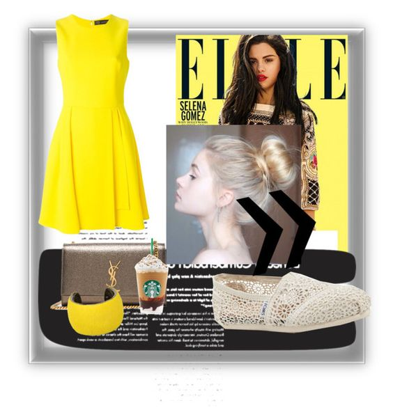 """""""Untitled #14"""" by niaaofficial on Polyvore featuring Versace, Yves Saint Laurent, TOMS and Isabel Marant"""