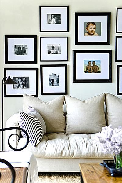 C mo decorar una pared con fotos ideas y trucos para el for Como decorar tu hogar