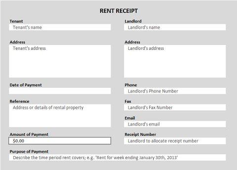 Free Receipt Forms – Payroll Receipt Template
