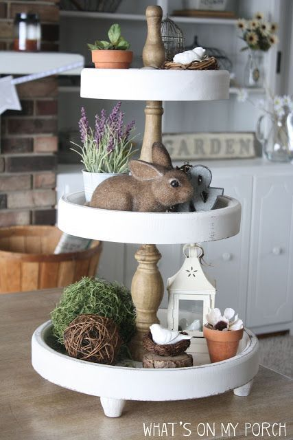How to Decorate a 3-Tiered Tray for Spring & Easter