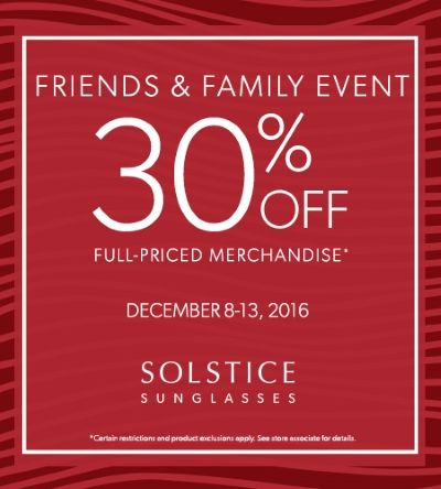 Solstice Friends & Family Event