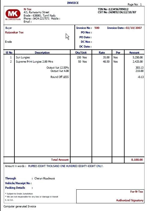 Sales Invoice Format from i.pinimg.com