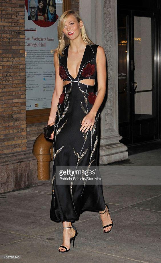 Модел Карли Клос е виден на 10 ноември 2014 г. в Ню Йорк.