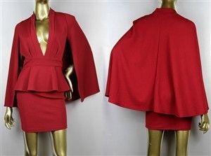 Peplum Cape Dress