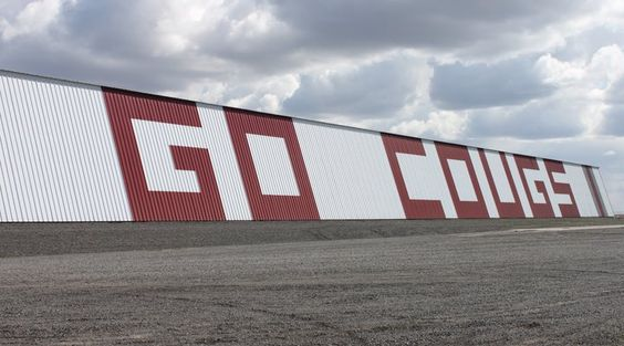 The Go Cougs shed on Highway 26 just east of Othello, Wash.
