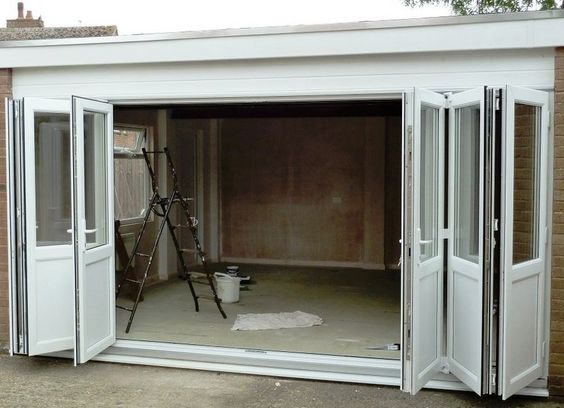 Horizontal Accordion Doors On The Garage If An Automatic Opener Can