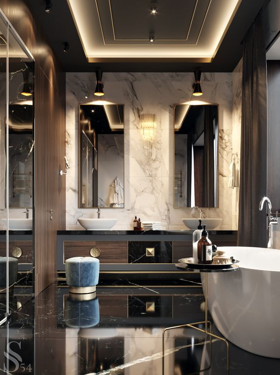 Russian Contemporary Apartment With Boca Do Lobo By Ekaterina Lashmano Bathroom Design Luxury Luxury Bathroom Bathroom Interior Design