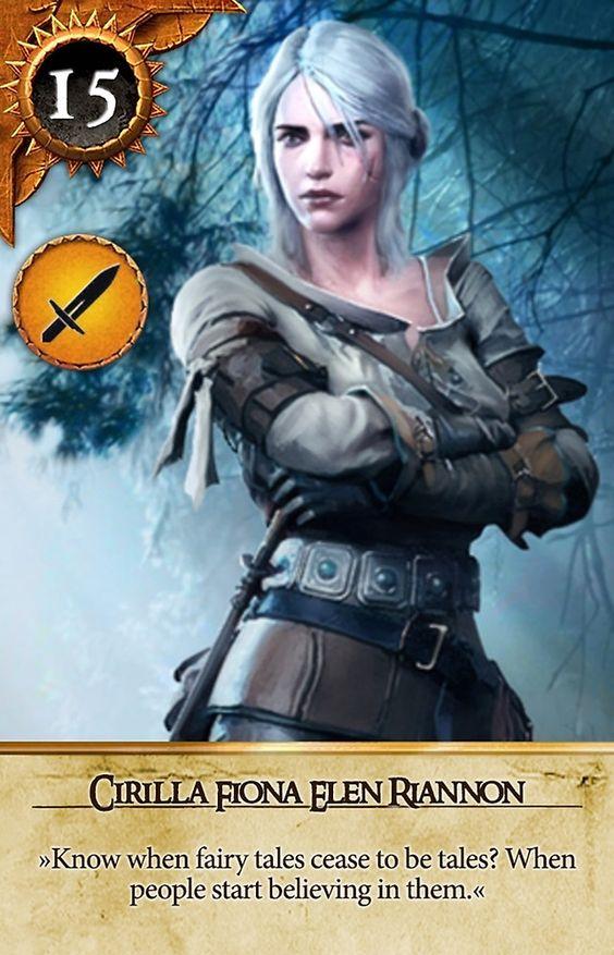 Cirilla fiona elen riannon gwent card the witcher 3 - Ciri gwent card witcher 3 ...