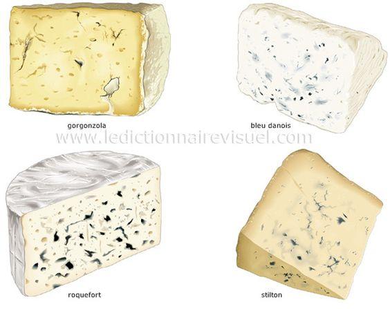 La classification des fromages et la fabrication du fromage: Fromages à pâte persillée