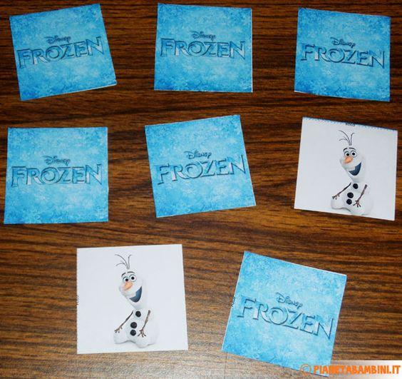 Carte del gioco memory di frozen da stampare gratis for Memory da stampare per bambini