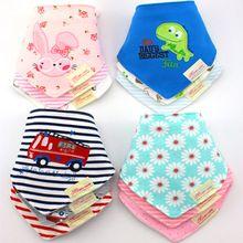 45 patrón de algodón lindo bebé toalla niño recién nacido bufanda del triángulo Babero las niñas se alimentan Smock bebé baberos paños del Burp(China (Mainland))